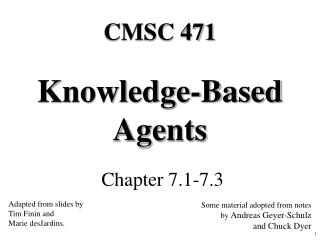 Knowledge-Based Agents
