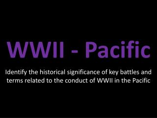WWII - Pacific