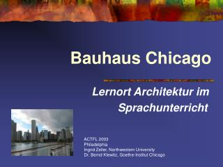 Bauhaus Chicago