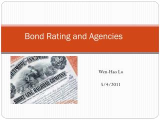 Bond Rating and Agencies