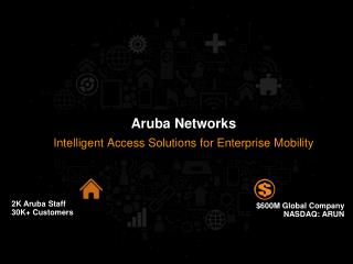2K Aruba Staff 30K+ Customers