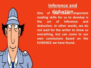Inference and deduction