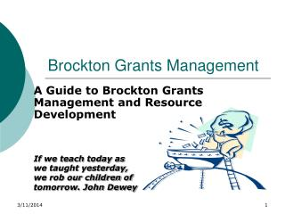 Brockton Grants Management