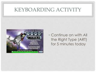 Keyboarding Activity