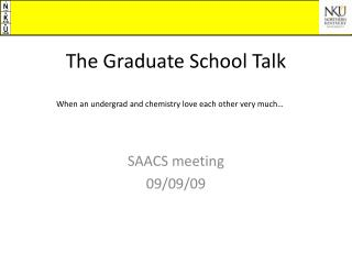 The Graduate School Talk