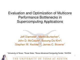 Evaluation and Optimization of Multicore Performance Bottlenecks in Supercomputing Applications