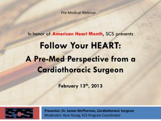 In honor of  American Heart Month , SCS presents Follow Your HEART: