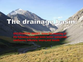 The drainage  basin.