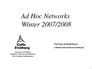 Ad Hoc Networks  Winter 2007/2008