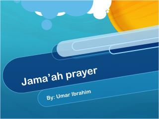 Jama'ah  prayer