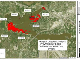 PHASE 1 DREDGING AREAS     PRIVATE BOAT DOCK DREDGING COMPLETION                   DATES