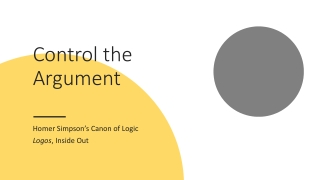 Control the Argument