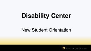 Disability Center