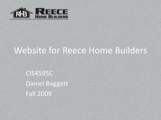 Website for Reece Home Builders