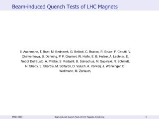 Beam-induced Quench Tests of LHC Magnets