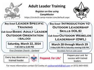 Adult Leader Training