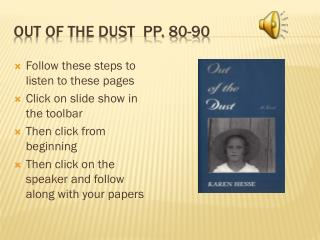 Out of the Dust  pp.  80-90