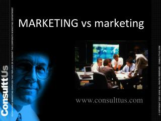 MARKETING  vs  marketing VAL