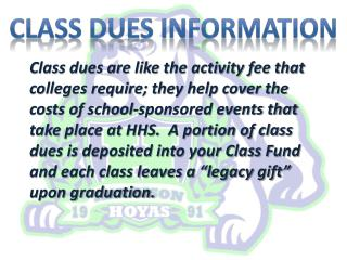 CLASS DUES INFORMATION