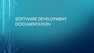 Software Development  Documentation