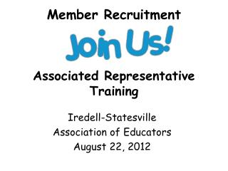 Member Recruitment Associated Representative Training