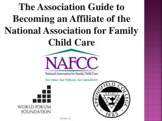 The Association Guide to Becoming an Affiliate of the National Association for Family Child Care