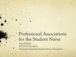 Professional Associations for the Student Nurse