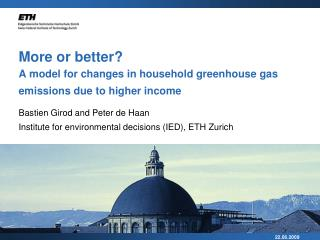 More or better?  A model for changes in household greenhouse gas emissions due to higher income