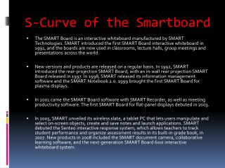 S-Curve of the Smartboard