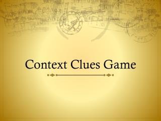 Context Clues Game