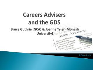 Careers Advisers  and the GDS