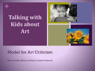 Talking with Kids about  Art
