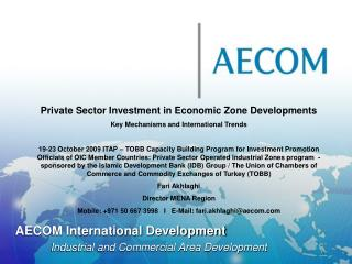AECOM International Development  Industrial and Commercial Area Development