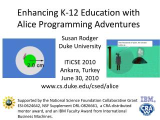 Enhancing K-12 Education with Alice Programming Adventures