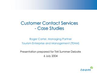 Customer Contact Services  - Case Studies