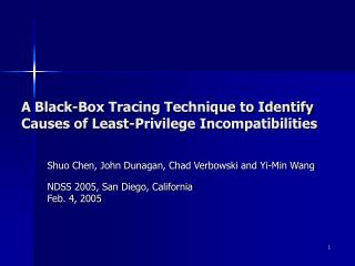 A Black-Box Tracing Technique to Identify Causes of Least-Privilege Incompatibilities