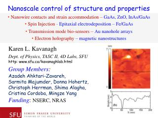 Nanoscale control of structure and  properties