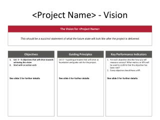 <Project Name>  -  Vision