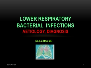 Lower Respiratory Bacterial Infections