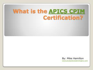 APICS Certification and CPIM Practice Questions