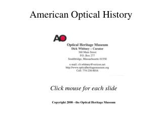 American Optical History