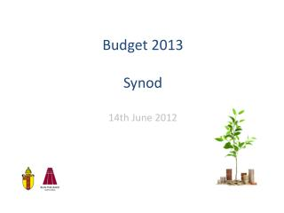 Budget 2013 Synod 14th  June 2012