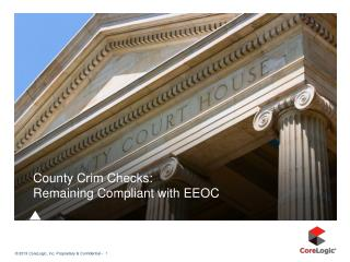 County  Crim  Checks:   Remaining Compliant with EEOC