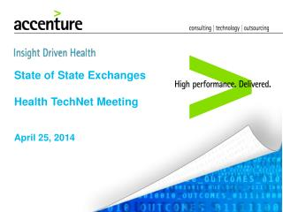 State of State Exchanges Health TechNet Meeting
