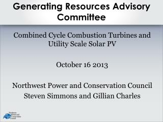 Generating Resources Advisory Committee