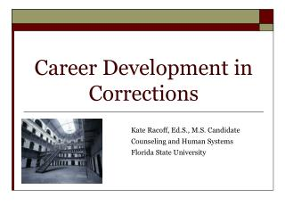 Career Development in Corrections
