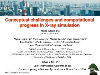 Conceptual challenges and computational progress in X-ray simulation
