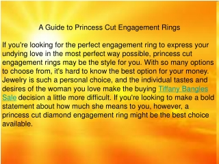 A Guide to Princess Cut Engagement Rings