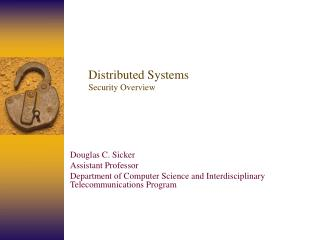 Distributed Systems Security Overview