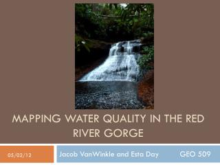 Mapping Water Quality in the Red River Gorge